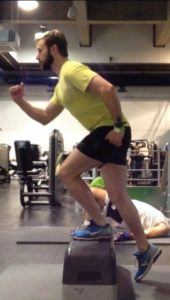 Running strength Exercise - Step Up 1. Bespoke Physiotherapy Covent Garden London