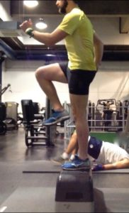 Running strength Exercise - Step Up 2. Bespoke Physiotherapy Covent Garden London